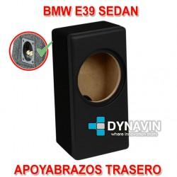 BMW E39 SEDÁN (1996-2004) - CAJA ACUSTICA PARA SUBWOOFER ESPECÍFICA PARA HUECO DEL REPOSABRAZOS TRASERO