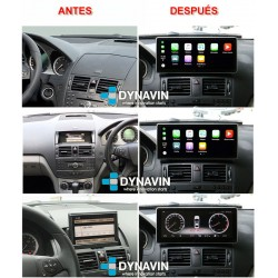 MERCEDES CLASE C W204 (2007-6/2011) - ANDROID 10,25""