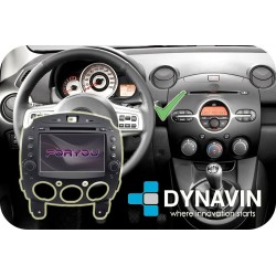 MAZDA 2 (2007-2014) - 2DIN GPS HD USB SD DVD BLUETOOTH