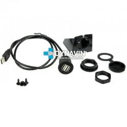 PROLONGADOR 2 x USB 12/24V - 5V/2,1Amp. (90cm)