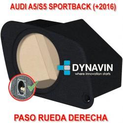 AUDI A5/S5 SPORTBACK (+2016) - CAJA ACUSTICA PARA SUBWOOFER ESPECÍFICA PARA HUECO EN EL MALETERO
