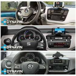 VW UP, SEAT Mii, SKODA CITIGO (+2017) - MARCO ADAPTADOR 1DIN