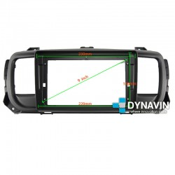 Soporte y marco fascia 2din 9DIN, 10DIN para pantalla android car play JUMPY SPACETOURER EXPERT TRAVELLER PROACE...