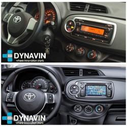 Soporte y marco fascia 2din 9DIN, 10DIN para pantalla android car play Toyota Yaris Vitz 2011 2012 2013 2014 2015
