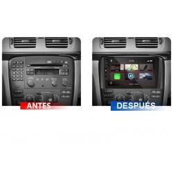 Soporte y marco fascia 2din 9DIN, 10DIN para pantalla android car play Volvo S80 2002, 2004, 2006, 2008, 2010, 2014