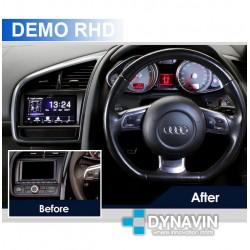 Soporte de montaje 2din plastico para instalacion de gps en Audi R8 RS8 instalación pantalla CarPlay