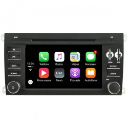 Radio 2din Android GPS Octacore 4GB RAM, 64GB Porsche Cayenne Typ E1 2005-2007-2008-2009-2011 CarPlay y Android Auto