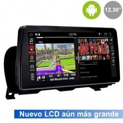 "BMW Serie 5 F10, F11 pantalla táctil CIC 12,30"" gps Android PX6 mandos del volante, usb, car play. Radio Profesional"