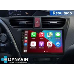 Soporte y marco fascia 2din 9DIN, 10DIN para pantalla android car play Honda Civic MK9 2012 214 2015 2016 2017 2018