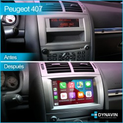 Radio 2din Android GPS Octacore 4GB RAM, 64GB Car Play Peugeot 407 2004, 2005, 2006, 2009, 2010, 2011