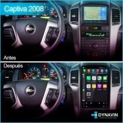 Radio gps pantalla android auto CarPlay Tipo Tesla Chevrolet Captiva 2006, 2008, 2010, 2011