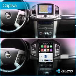 Radio gps pantalla android auto CarPlay Tipo Tesla Chevrolet Captiva 2012 2014 2015 2016 2018 2019