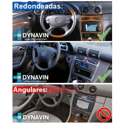 Pantalla Android 2din gps Octacore 4-64GB y 6-128. CarPlay Android Auto Mercedes C W203 pre-restyling, Cportcoupe, CLK W209