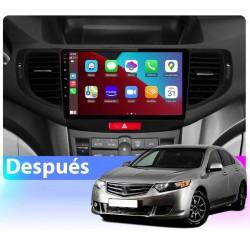 2din gps Octacore 4-64GB y 6-128. Cámara trasera CarPlay Android Auto Honda Accord, Honda Spirior 2008, 2009, 2010, 2011, 2012