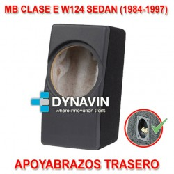 MERCEDES CLASE E W124 SEDAN (1984-1997) - CAJA ACUSTICA PARA SUBWOOFER ESPECÍFICA PARA HUECO DEL REPOSABRAZOS TRASERO