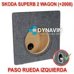 SKODA SUPERB 2 WAGON (+2008) - CAJA ACUSTICA PARA SUBWOOFER ESPECÍFICA PARA HUECO EN EL MALETERO