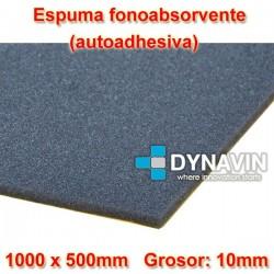 ESPUMA FONO-ABSORVENTE: 1000x500. Grosor 10mm. INSONORIZACION CAR AUDIO