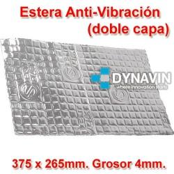 LAMINA DE GOMA DE BUTILO DOBLE CAPA ANTI VIBRACION: 375x265. Grosor 4mm.