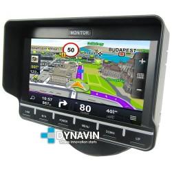 """MONITOR 7"""": 3 AV IN + GPS TÁCTIL. 12/24V. 4PIN PRO"""
