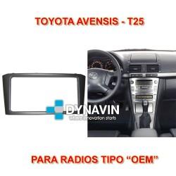 TOYOTA AVENSIS T25 - MARCO ADAPTADOR 2DIN PARA RADIOS OEM
