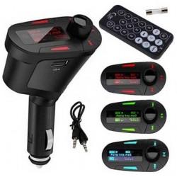 MUSICA MP3 USB, SD y AUX JACK CON LCD ROJO - FMTx, NO NECESITA CABLES NI ALIMENTACION ADICIONAL