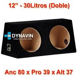 "CAJA ACUSTICA (DOBLE): 12"", 30Li. Anc 80 x Pro 39 x Alt 37"