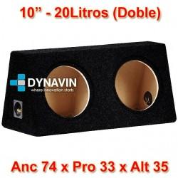 "CAJA ACUSTICA (DOBLE): 10"" 20/20Li. Anc 74 x Pro 33 x Alt 35"