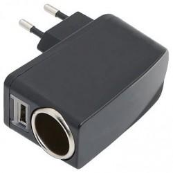 REDUCTOR TENSION. ENCHUFE EUROPEO-USB: ENTRADA 220V. OUT 12/5V 1Amp