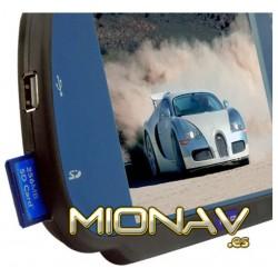 """MONITOR RETROVISOR 7"""": USB, SD,... AV IN + CAM IN (12/24V)"""
