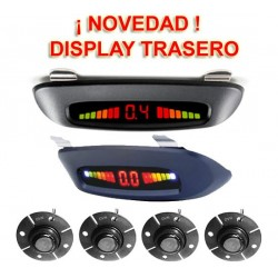SENSORES DE PARKING - KIT DE 4 CAPSULAS PROFESIONAL CON DISPLAY LED