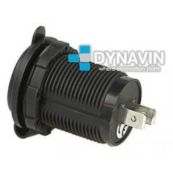 MINI-CARGADOR UNIVERSAL PARA EMPOTRAR 2 x USB: 12/24V. OUT 5V 2100mA