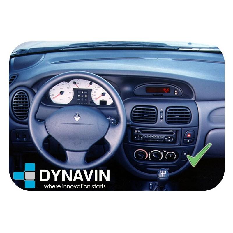 Radio de coche de volante MP3 USB JVC 1DIN para Renault Megane Scenic 1996-2000 gris