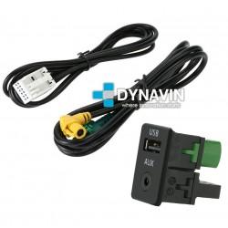 CONECTOR USB Y AUXILIAR ORIGINAL - INTERFACE PARA GRUPO VAG
