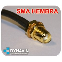 ANTENA GPS 28dBi MAGNETICA: CONECTOR SMA RECTO (TIPO B)