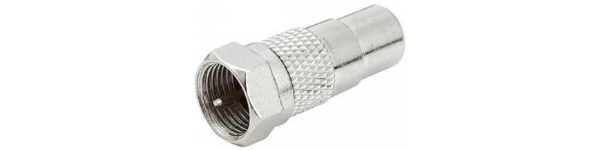 Cables, adaptadores y conversores para conectores con conexion tipo F