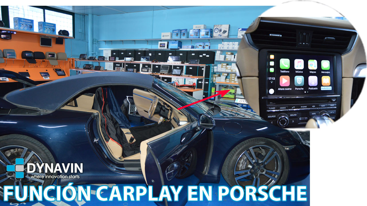 Función CarPlay en Porsche 911